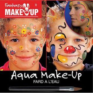 Fantasy Aqua Make Up Blumen + Anleitung ~Karneval~NEU