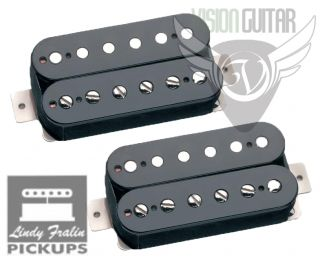 NEW Lindy Fralin PAF Humbucker Pickup Humbucking Gibson Set   Black