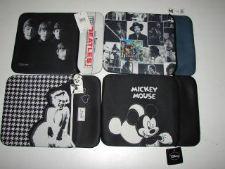 Laptoptasche Micky Maus Jimi Hendrix Beatles Marilyn Monroe klein Neu
