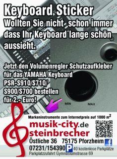 Für YAMAHA PSR S910 Keyboard Sticker für Volumenregler KLAR