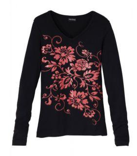 Schickes Damen Shirt Top Gr. 48 / 50 XL Oberteil langarm NEU