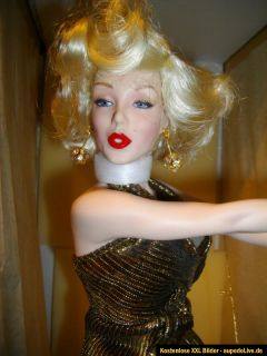 Golden Marilyn Monroe FRANKLIN MINT HEIRLOOM PORCELAIN DOLL PORZELLAN