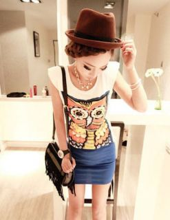 New Kawaii Japanese Korean Owl Bird Cute Hot Trendy Fine Shirt Jumper