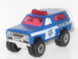 1983 Chevy Blazer 4x4 Blue Police 911 Model Jeep Rare Mint