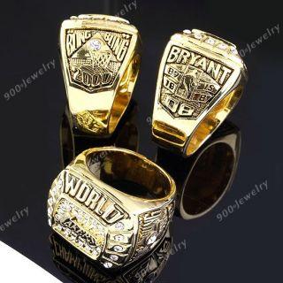 NBA 2000 Los Angeles Lakers Kobe Bryant Championship Mens Ring
