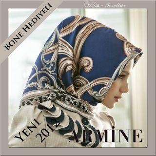 YENI Brandneue ARMINE KOLLEKTION 2012 Seidentuch Esarp 100% Ipek Seide