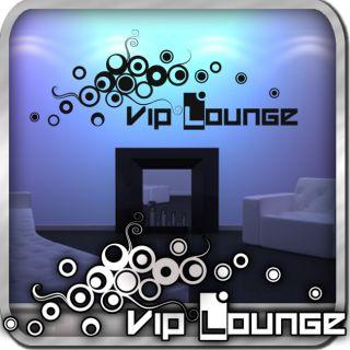 TOP Wandtattoo VIP Lounge  Zone Retro Modern Wohnzimmer Spruch
