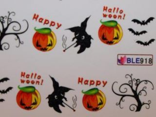 Nail Art Sticker Tattoo One Stroke BLE 918 halloween