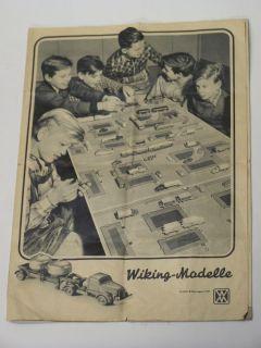 Wiking Original Katalog Prospekt von 1957