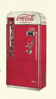 Vendo 81 A,B & C Coke Machine Rest. Manual