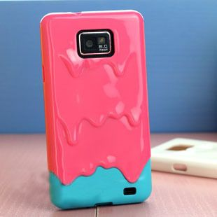 New 3D Melt ice Cream Hard Case Skin Cover for Samsung Galaxy S II S2