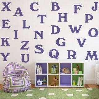 WT137 Wandtattoo Aufkleber ABC Alphabet Tattoo Kinderzimmer Sticker