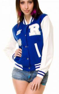 Hot Damen College Jacke Sweat Baseball Urban Jacke 4 Farben Gr. S/M  M