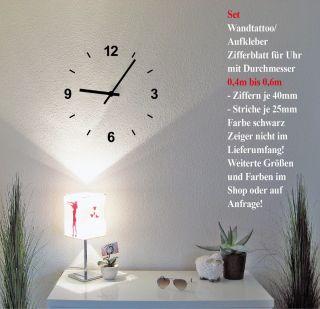 Wandtattoo Deko Bild Wandbild Klebefolie selbstklebende Folie Uhr