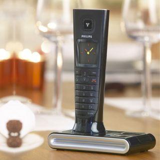 Philips ID937 Edles Design Dect Telefon Anrufbeantworter schwarz