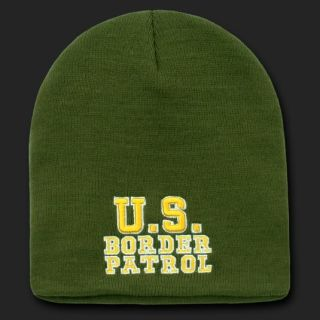 BORDER PATROL BEANIE SKULL CAP HAT CAPS