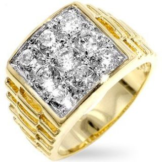 Isady – Chris   Herren Ring   585er 14K Gold platiert Zirconium