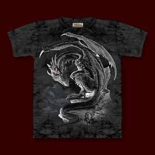 Fantasy Drachen T Shirt Herren Vergebene Tapferkeit
