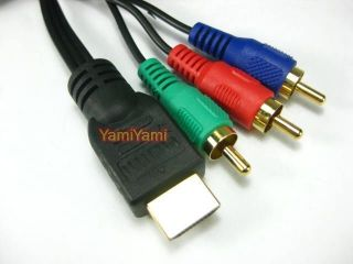 HDMI M Male to 3 RCA M Video Audio AV Adapter Cable DV