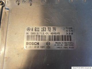 Mercedes Benz Vito Motor Steuergerät A 611 153 72 79 / Bosch 0 281