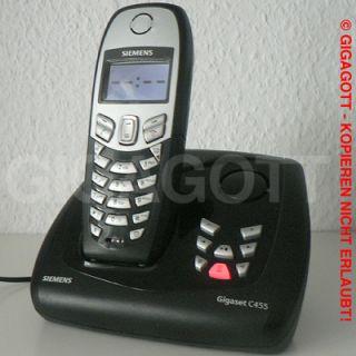 SIEMENS Gigaset C455 Schnurloses Telefon mit AB Freisprechen SMS CLIP