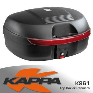 New K961N   44ltr   Kappa Pannier or Top Box   Black (Red reflector