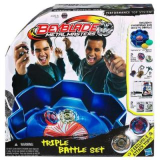 Beyblade Metal Masters Triple Battle Set   Hasbro 31671 Mit 2