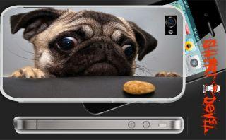 Mops   Pug Version 4 / iPhone 4 Sticker Skin Handy Folie