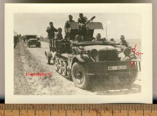 Orig. Foto Panzer Tank SD KFZ Halbkette +Kennung der Division