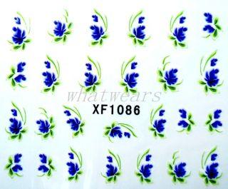 Blatt Blumen Wasserzeichen Nailart Nagel Aufkleber Sticker Tattoo