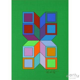 VASARELY ORIGINAL SERIGRAPHIE SONORA 1976 OP ART 976, €