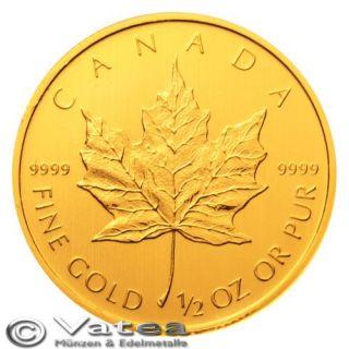 Kanada 20 CAD Maple Leaf 2012 1/2 Unze 999,9 Gold NEU