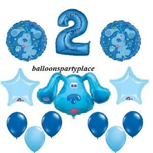BLUES CLUES balloons party supplies decoration birthday SECOND 2ND TWO