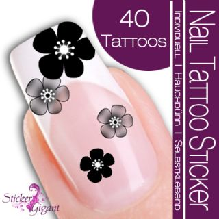 40 Stk Nail Art Tattoo Sticker Kirschblüte (SG003)