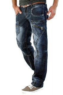 Kosmo Lupo JEANS Cargo Style Herren Hose Clubwear KM020 Designer Chino