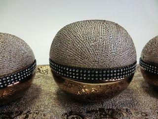 Keramik Deko Set 4 teilig orientalisch (gold   silber   braun) NEU