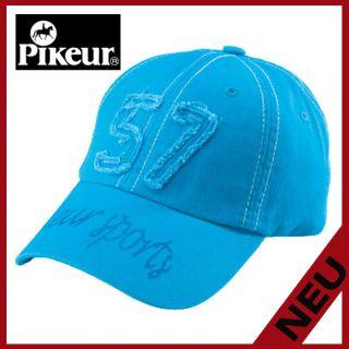Cotton Cap mit Aufnäher in cyan blue Sommer 2012 (Artikel 986)