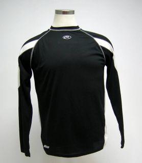 New Rawlings Black White Long Sleeve Basball Jersey S