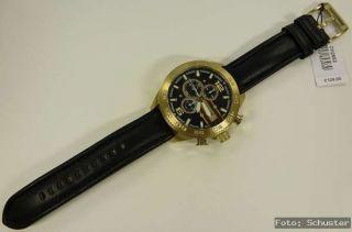 FOSSIL Herren Uhr Chrono Chronograph NEU CH2652 Leder schwarz gold