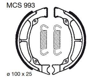 Bremsbeläge O Hyosung SF 50 Racing MCS993
