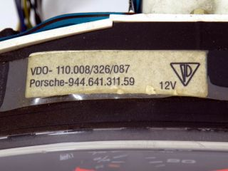 Porsche 968 Kombiinstrument Tacho / Instrument cluster
