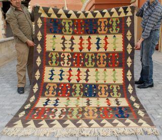 Anatolia Turkish Rug 65 x 95 Hand Woven Wool Oushak Esme Kilim Rug