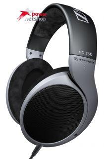 Sennheiser HD 555 Silber Kopfhörer Bügel Kopfhörer Kabelgebunden