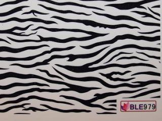 Nail Art Sticker One Stroke Tattoo BLE 979 zebra