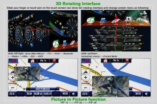 Erisin ES896T 7 Inch HD Car DVD Player Nav TMC DVB T(MPEG 4) iPod PIP