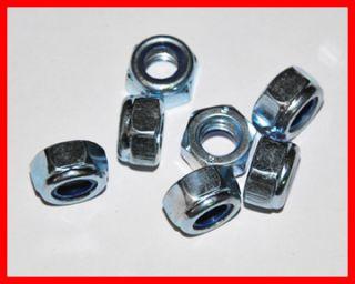 Stück   Sechskant Stopmuttern M6   8 (DIN 985   VZ) Stahl verzinkt