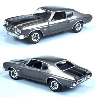AUTOWORLD AMM986 118 1970 CHEVROLET CHEVELLE SS454 SHADOW GREY GRAY