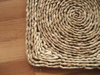 Naturfaser Strohteppich Teppich Mais Binsen Stroh 60x90