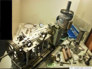 Große 2 Zylinder Schiffsdampfmaschine mit Kessel / Dampfmaschine