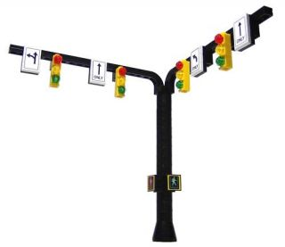 Lego City / Train Town Accessories Traffic Light Signal